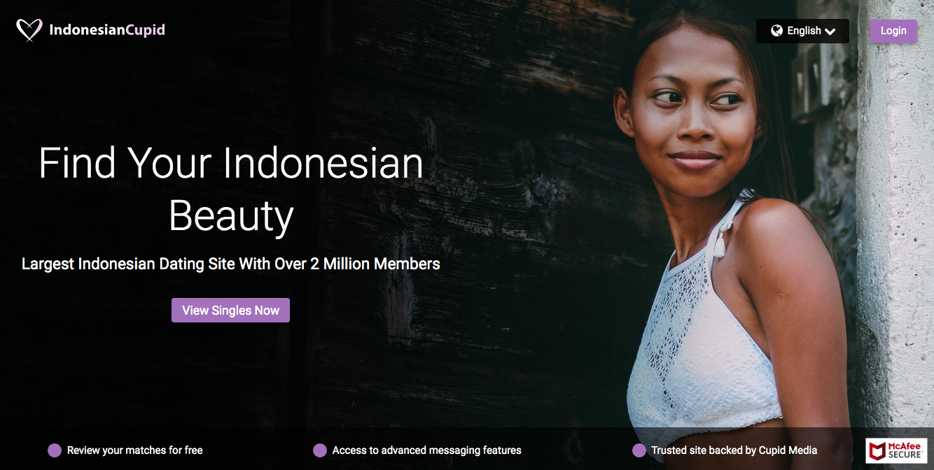 IndonesianCupid main page