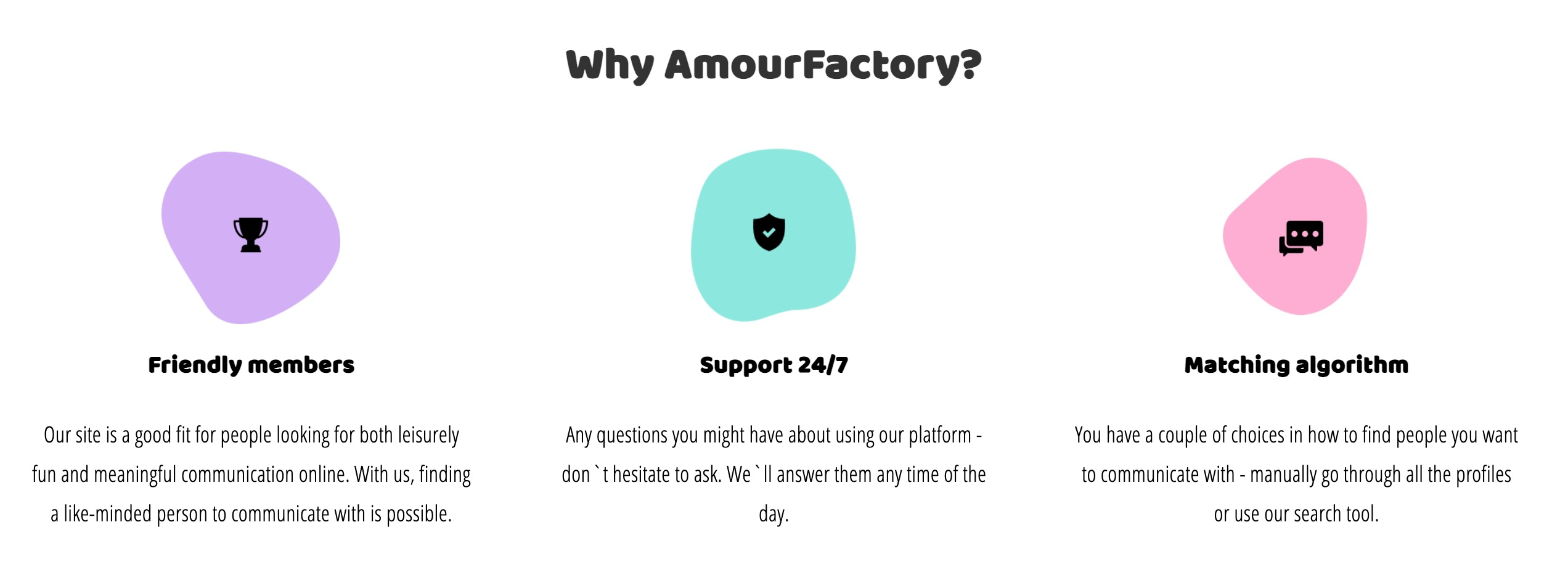 AmourFactory why choose
